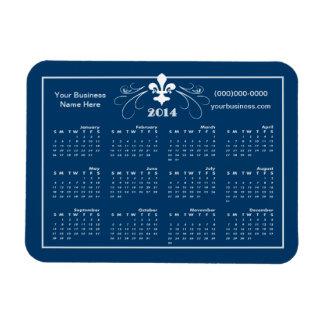 Personalized Fancy Fleur de Lis 2014 Calendar Magnet