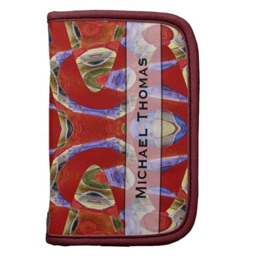 Personalized fancy red abstract organizer