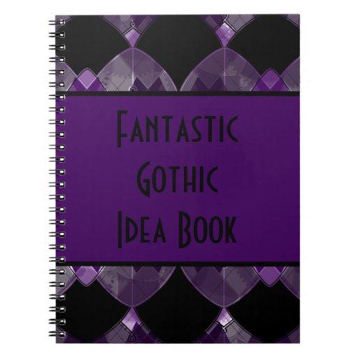 Personalized Fancy Scallop Pattern Notebook