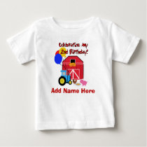 Personalized Farm 2nd Birthday Tshirt