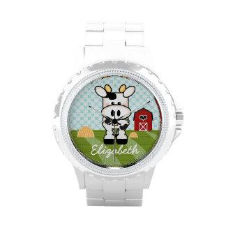 Personalized Farm Cow Wristwatches