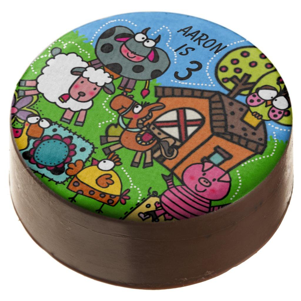 Personalized Farm Theme Birthday Dipped Oreos