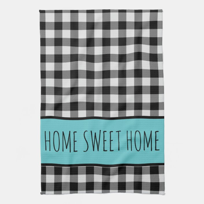 Kitchen Towel Buffalo Checked Towel Kitchen Accessories Checker Towel Personalize Your Name Towel Towels White And Black Towel Home Living Dishcloths Kitchen Towels Delage Com Br