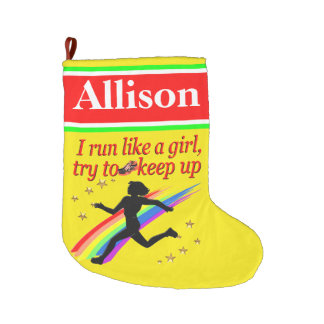 PERSONALIZED FAST RUNNER CHRISTMAS STOCKING LARGE CHRISTMAS STOCKING