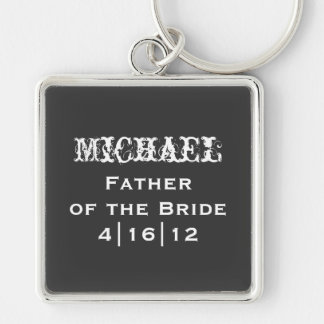 Personalized Father of the Bride Keychain