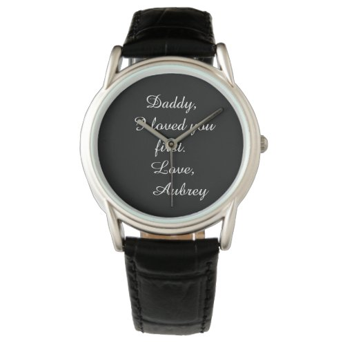 """Personalized """"Father of the Bride"""" Leather Watch"""