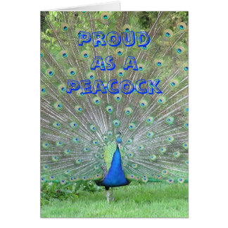 "Personalized FATHERS DAY CARD ""PROUD AS A PEACOCK"""