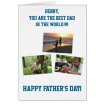 Personalized Fathers Day Cards ADD YOUR PHOTO