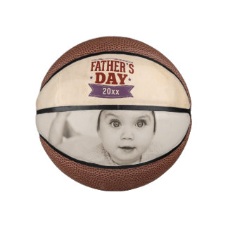 Personalized Fathers Day Photo Gift Basketball
