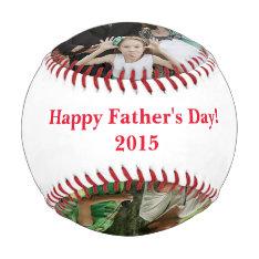 Personalized Father's Day Three Photo Baseball at Zazzle