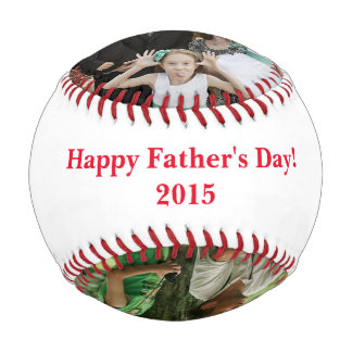 Personalized Father's Day Three Photo Baseball