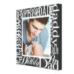 Personalized Father's Day Word Collage Photo Print Gallery Wrap Canvas