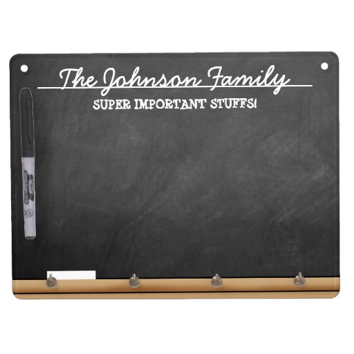 Personalized Faux-Chalkboard Dry Erase Whiteboards