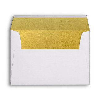 Personalized Faux Gold Foil Custom Envelope Liner