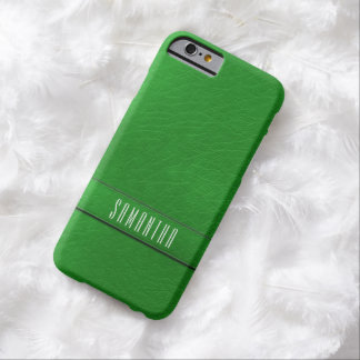 Personalized Faux Green Leather iPhone 6 Case
