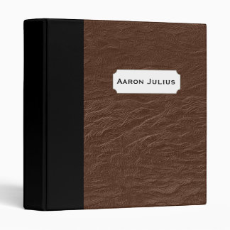 Personalized Faux Leather Teacher's Binder Gift
