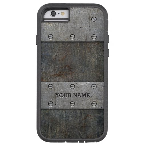 Personalized Faux Old Metal Tough Xtreme iPhone 6 Case