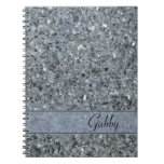 Personalized Faux Sparkle Spiral Notebook
