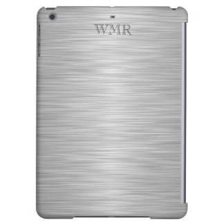 Personalized Faux Stainless Steel Monogrammed iPad Air Cases