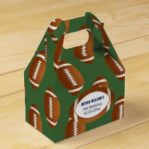 Personalized favor box Sports Party football theme