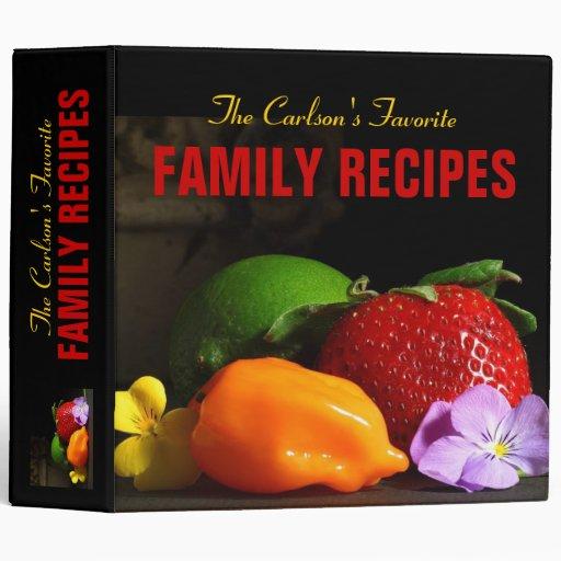 Personalized Favorite Family Recipe Binder