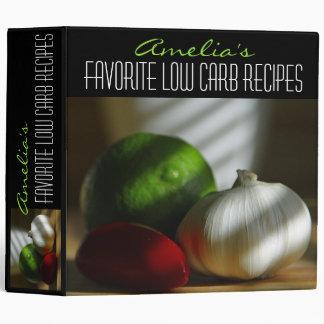 Personalized Favorite Low Carb Recipe Binder