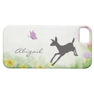 Personalized Fawn and Butterfly Deer iPhone Case iPhone 5 Cases