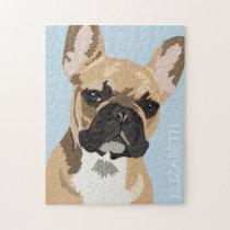 Personalized Fawn French Bulldog Jigsaw Puzzle