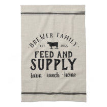 Personalized Feed Supply Grain Sack Towel