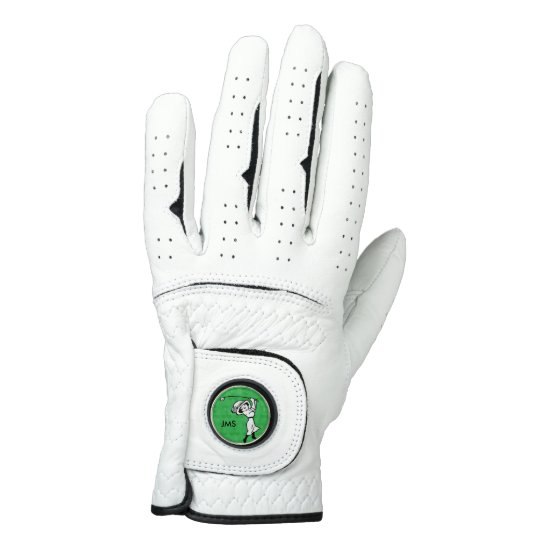 Personalized female golf cartoon golfer golf glove