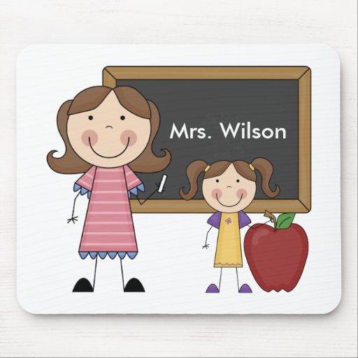 Personalized Female Teacher Mousepad