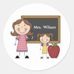 Personalized Female Teacher Stickers