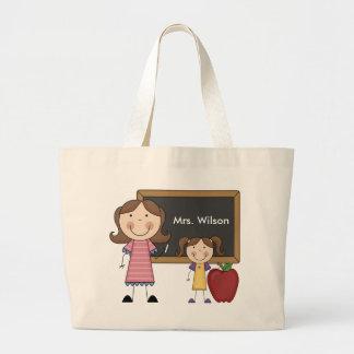 Personalized Female Teacher Tote Bag