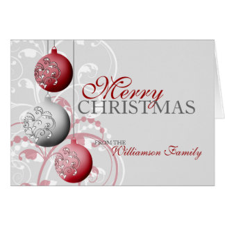 Personalized Festive Christmas Card