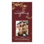 PERSONALIZED FESTIVE PHOTOCARD :: bold vine 2 Photo Cards