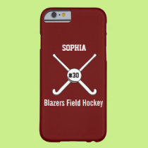 Personalized Field Hockey Team Name Jersey Number Barely There iPhone 6 Case