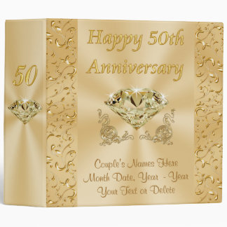 Unique Wedding Anniversary Gifts : Personalized Fiftieth Wedding Anniversary Gifts 3 Ring Binder