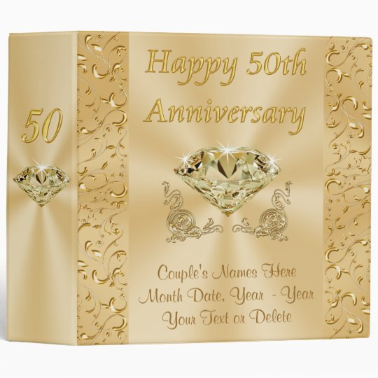 Wedding Anniversary Gifts By Year 3: Personalized Fiftieth Wedding Anniversary Gifts 3 Ring