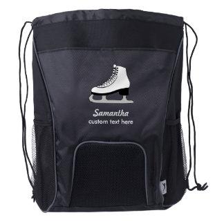 Personalized Figure Skating Club Skater, Team Name Drawstring Backpack