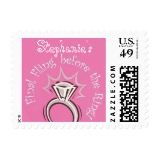 Personalized Final Fling Postage