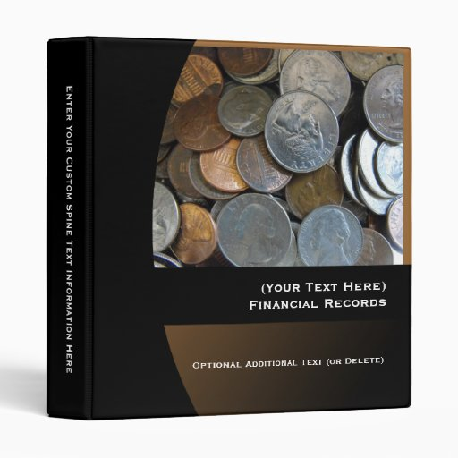 Personalized Financial Records Binder, USD Coins