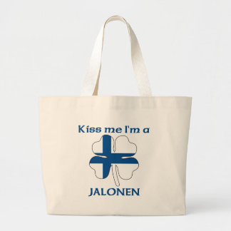 Personalized Finnish Kiss Me I'm Jalonen Bags