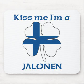 Personalized Finnish Kiss Me I'm Jalonen Mouse Pad