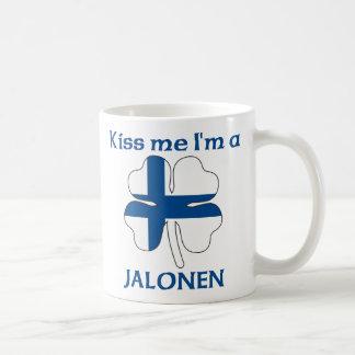 Personalized Finnish Kiss Me I'm Jalonen Coffee Mugs