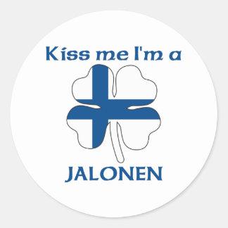 Personalized Finnish Kiss Me I'm Jalonen Stickers