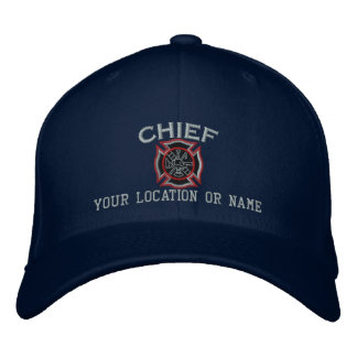 Personalized Fire Chief Custom Cap Embroidery