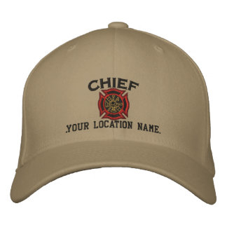 Personalized Fire Chief Custom Cap Embroidery Baseball Cap
