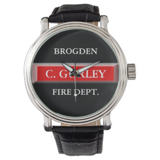 Personalized Fire Department Wrist Watch