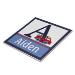 Personalized Fire Engine/Truck Letter Name Tile