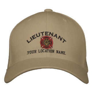 Personalized Fire Lieutenant Custom Cap Embroidery